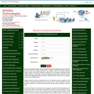 Software Training Institute in Hyderabad , India - Online Software Training Institute in Ameerpet Hyderabad India- Best Online S