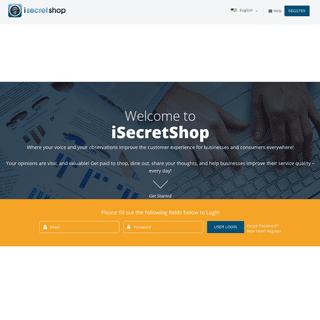 iSecretShop Mystery Shopping - Secret Shopping - Become a Shopper