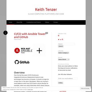 ArchiveBay.com - keithtenzer.com - Keith Tenzer - Cloud Computing Platforms and Code