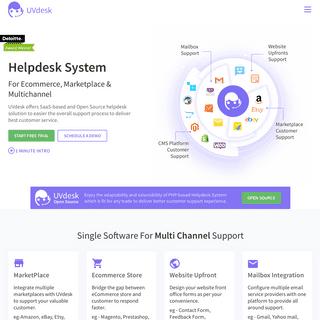 Open Source Helpdesk System for eCommerce, Marketplaces & Multichannel - UVdesk