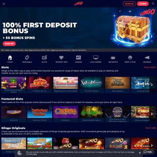 Slingo Home - Online Slots & Casino - Slingo