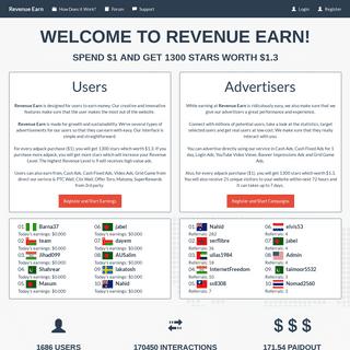 Revenue Earn - Home