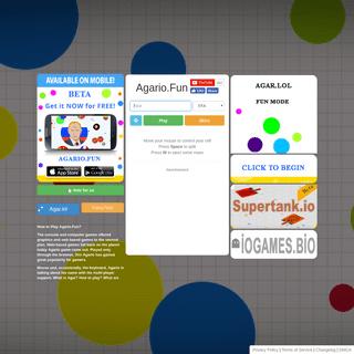 Agario.fun Funny Mode Agario Game Server