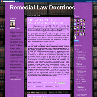 Remedial Law Doctrines