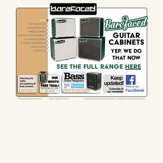 Barefaced Bass - Ultra lightweight high power bass guitar speaker cabinets