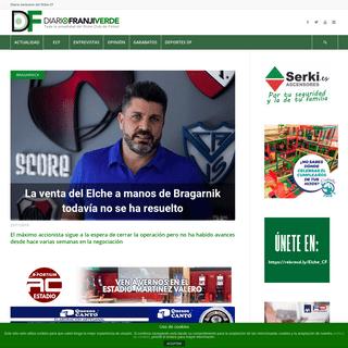 Diario Franjiverde - Diario digital líder en Elche y provincia de Alicante