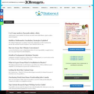 Staibene.it, il sito della salute e del benessere
