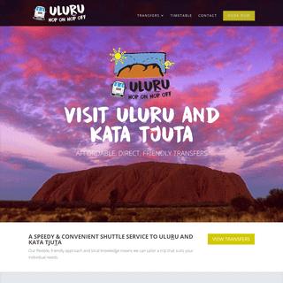 Uluru Hop On Hop Off - Affordable, friendly, direct transfers to visit Uluru and Kata Tjuta.