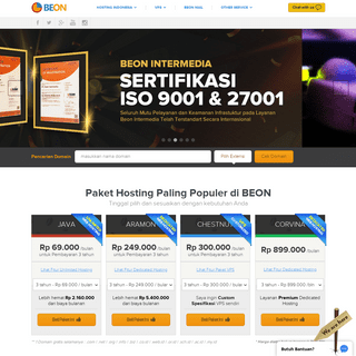 BEON Unlimited web hosting Indonesia - domain murah Indonesia