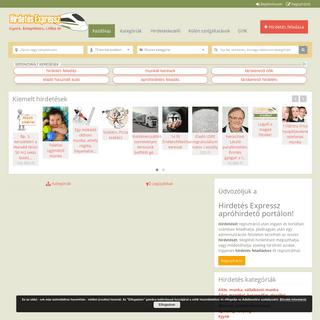Hirdetés Expressz-apróhirdetési oldal-ingyenes hirdetés feladás
