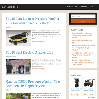 Reviews Bite - Best Electric Pressure Washer 2019 -Tried & Tested-