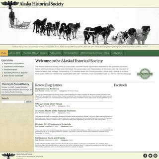 Home - Alaska Historical Society