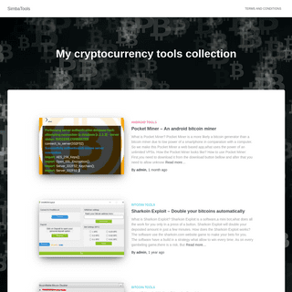 SimbaTools – My cryptocurrency tools collection