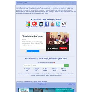 Free SSL Web Proxy - www.homeproxy.com