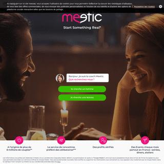 Site de Rencontres Sérieuses pour Célibataires - Meetic France
