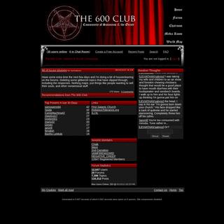 The 600 Club - Satanism Community