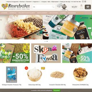 Fri frakt från 500 kr - Råvarubutiken - ekologisk kvalitet