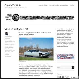 ArchiveBay.com - driventowrite.com - Driven To Write – Still The World's Least Influential Motoring Site