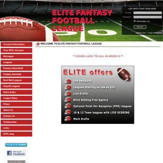 Elite Fantasy Football League