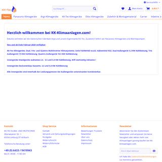 ArchiveBay.com - kk-klimaanlagen.com - Klimaanlagen günstig kaufen bei KK-klimaanlagen.com