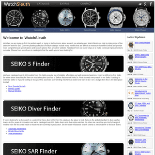 WatchSleuth - Searchable Watch Catalogs