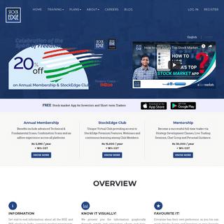 StockEdge - Indian Stock Market App designed to provide data Analytics and Visualizations