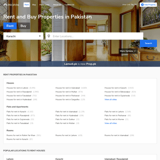 Prop.pk Rent and Buy Pakistan Property. Rent Houses, Flats, Apartments , Portions.