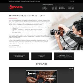 Boutique Lozeau - L'expérience Photo Vidéo Drone.