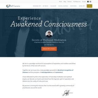 Jeff Carreira - Philosophy - Meditation - Jeff Carreira