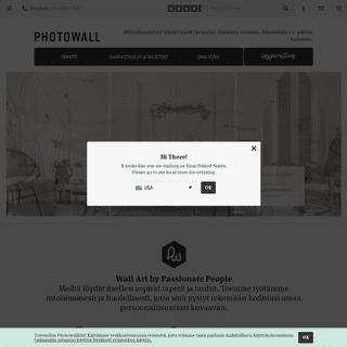 Valokuvatapetteja, tapetteja ja tauluja – Tilaa verkossa Photowallista