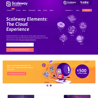 Scalable Cloud Platform Designed for Developers & Growing Companies - Scaleway