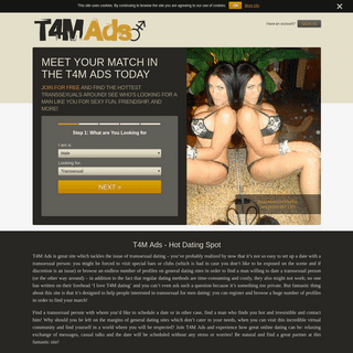 T4M Ads - Transsexuals Searching For Men