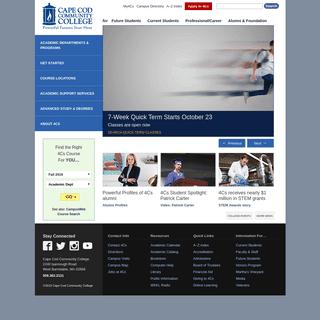 Cape Cod Community College – Homepage