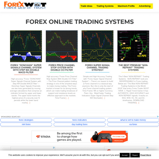 Forex Online Trading - Forex MT4 Online Trading Systems and Indicators