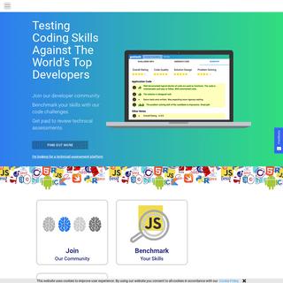 Technical assessment platform, code challenges - Geektastic