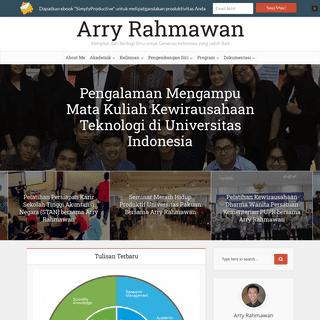 Arry Rahmawan - Dosen & Peneliti Universitas Indonesia