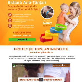 Brățară Anti-Țânțari - Scapă de țânțari și alte insecte (Pachet 4 Brățări)