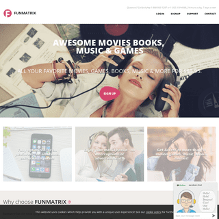 funmatrix - Unlimited Movies, Games, Music and E-books