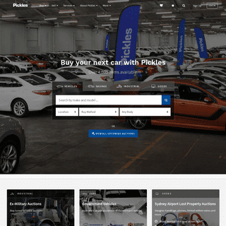 Pickles - leaders in asset remarketing across industrial, cars, trucks, and salvage, Pickles Australia