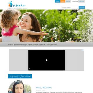 siterka.com - Najbolji način da pronađete dadilju ili bebisiterku