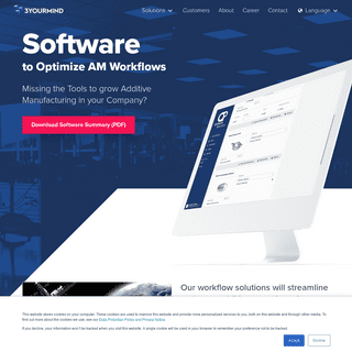 Innovative Software to Optimize AM Workflows - 3YOURMIND