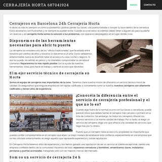 Cerrajeros Barcelona 24h - Cerrajería Horta ECONÓMICOS