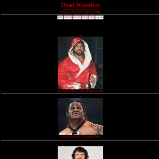 Dead Wrestlers List