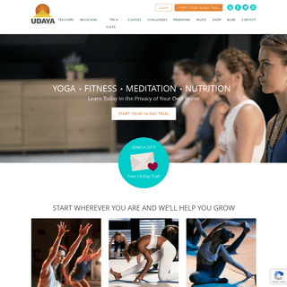 Home - UDAYA Yoga & Fitness