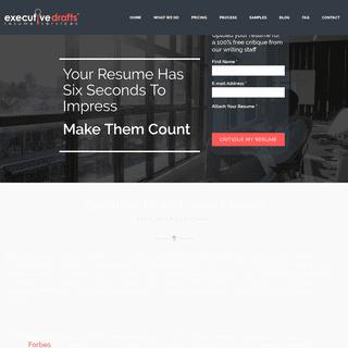 ArchiveBay.com - executivedrafts.com - Professional Resume Writing Service - Executive Drafts