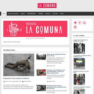 Revista La Comuna. Periodismo Partidario