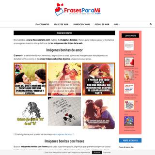 FRASESPARAMI » Imágenes Bonitas y Frases Sobre AMOR y Mas