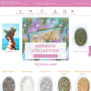 ArchiveBay.com - littlewaisted.com - Bakery Bling™ - Luxury Glittery Sprinkles - Designer Cookie Kit - - Bakery Bling™