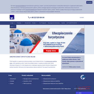 Ubezpieczenia Podróżne, Medyczne Online - AXA