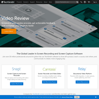 Global Leader in Screen Recording and Screen Capture - TechSmith